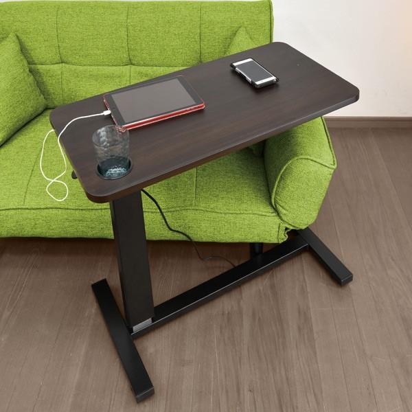 サイドテーブル おしゃれ レジェンド(コンセント・USB・カップホルダー付) -ART オーバーテーブル  ベッドテーブル  テレワーク デスク 在宅 勤務 昇降テーブル|mote-kagu|14