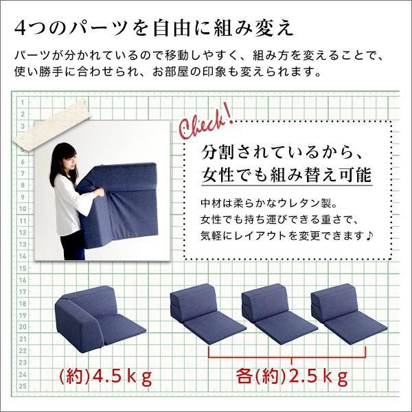 組み合わせ自由 日本製 コーナーローソファ フロアタイプ 【Linum-リナム- 2SET 】 mote-kagu 05