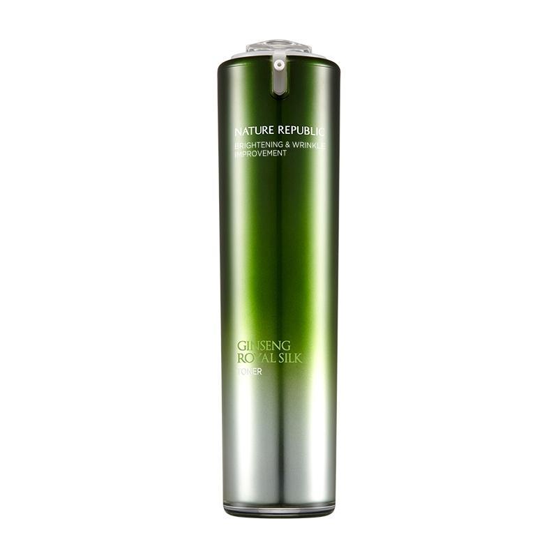 ネイチャーリパブリック ジンセンロイヤルシルクトナー  120ml 韓国コスメ 化粧水 スキンケア   NATURE REPUBLIC Ginseng Royal Silk Toner motions-shop