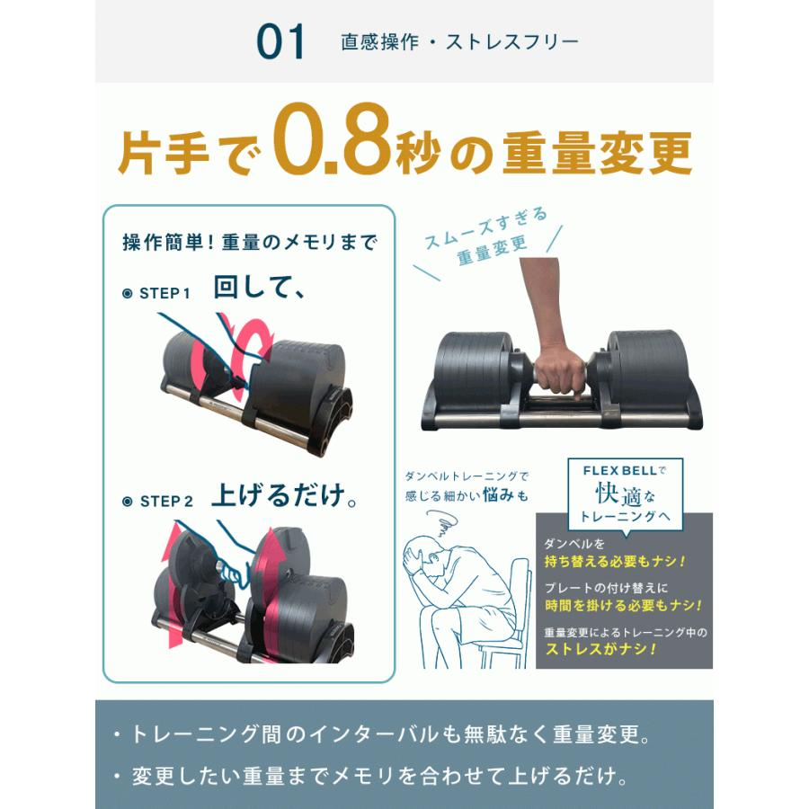 フレックスベル 2kg刻み 32kg 2個セット 新型 正規品 FLEXBELL 可変式ダンベル アジャスタブルダンベル motions-store 06