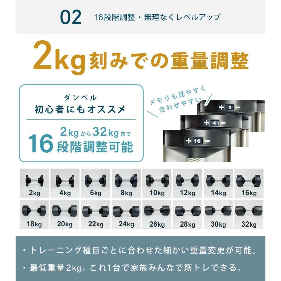フレックスベル 2kg刻み 32kg 2個セット 新型 正規品 FLEXBELL 可変式ダンベル アジャスタブルダンベル motions-store 07