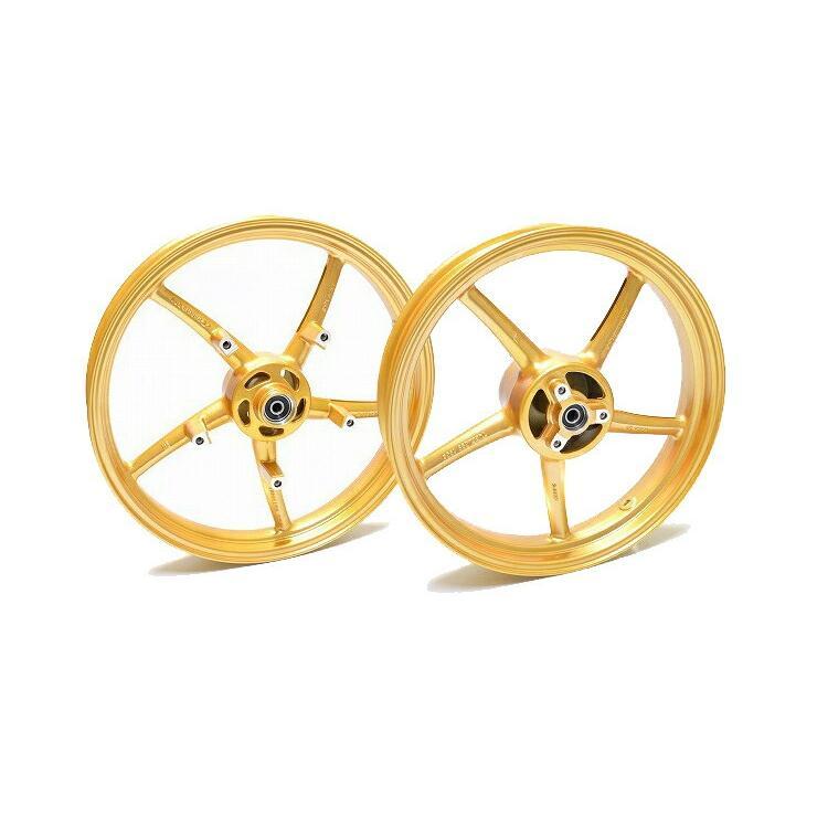 日本 KN企画 GSX-R125 150 至上 GSX-S125 RCB 鋳造ホイール前後セット 01S0389G ゴールド SP522