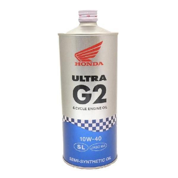 在庫限りで完売です。新商品に変更となります。Honda(ホンダ) 2輪用エンジンオイル ウルトラ G2 SL 10W-40 4サイクル用 1L 08233-99961|moto-occ