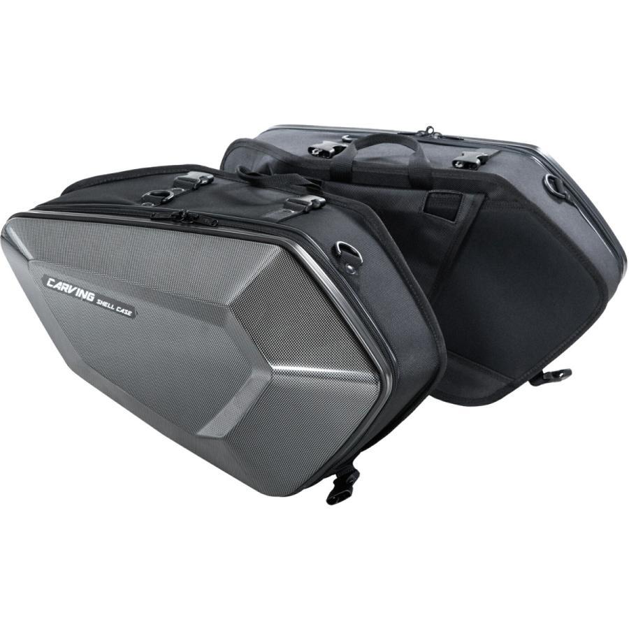 タナックス(TANAX) MOTOFIZZ サイドバッグ カービングシェルケース カーボン柄 片側16L MFK-272|moto-zoa