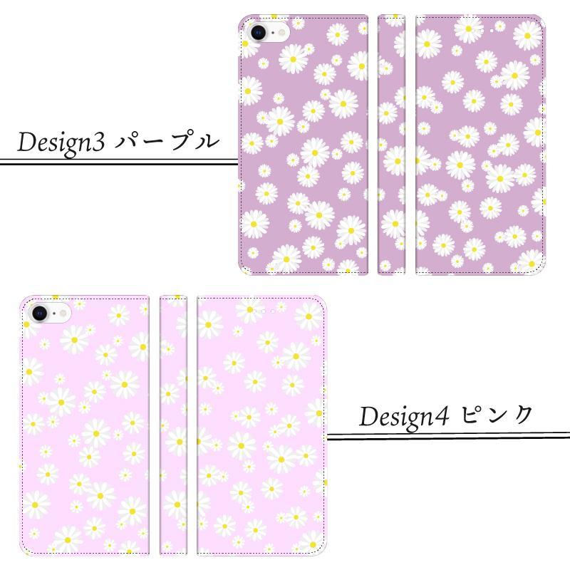 iPhone 手帳型ケース 花柄 マーガレット かわいい iPhone12 mini 12 pro max  iPhone11 pro max SE 第2世代  se2 カバー 北欧風 ピンク 緑 ストライプ|moto84|11