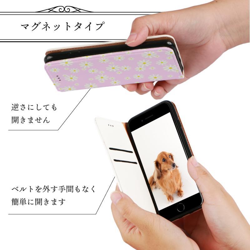 iPhone 手帳型ケース 花柄 マーガレット かわいい iPhone12 mini 12 pro max  iPhone11 pro max SE 第2世代  se2 カバー 北欧風 ピンク 緑 ストライプ|moto84|06