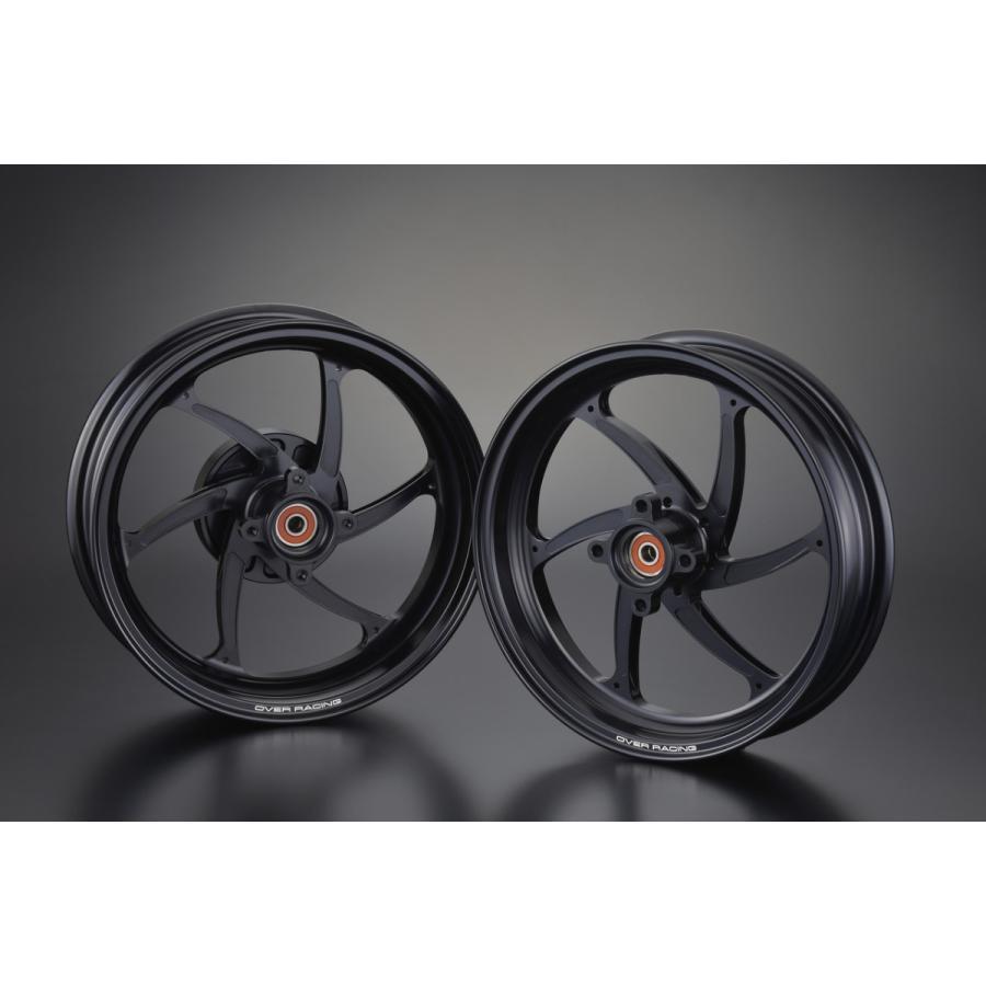 OVER オーヴァー スポーツホイール GP-SIX ブラック 2.70-12/3.50-12 セット MONKEY125 ABSモデル用 motoism