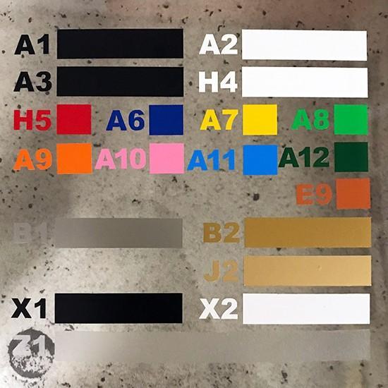 色& 数字変更OK ★ 切り文字ステッカー  0〜9 TYPE - NO.2  M/10cm   カッティングシート・シール・デカール motologo 05
