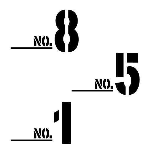 色& 数字変更OK ★ 切り文字ステッカー  0〜9 TYPE - NO.2  M/10cm   カッティングシート・シール・デカール motologo 02