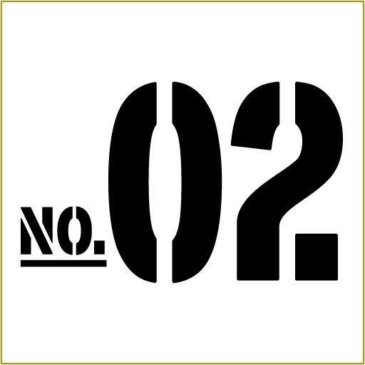 切り文字ステッカー  50〜99 色&数字変更OK    TYPE - NO.02  M/10cm  カッティングシート・シール・デカール motologo