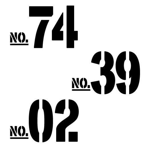 切り文字ステッカー  50〜99 色&数字変更OK    TYPE - NO.02  M/10cm  カッティングシート・シール・デカール motologo 04