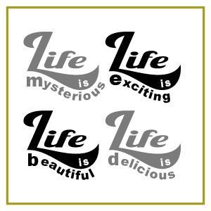 色&英字変更OK ★ 切り文字ステッカー  ロゴマーク LIFE is-M  約100mmx100mm セミオーダー・ カッティングシート・シール・デカール|motologo|02