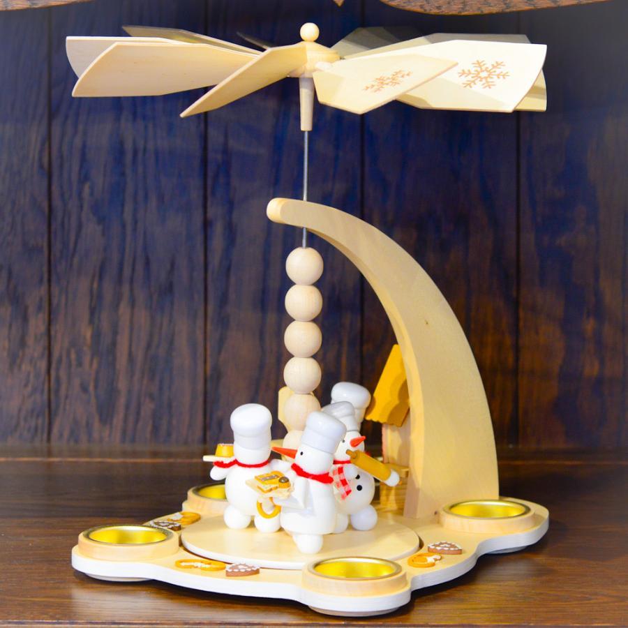 ドイツ木工芸品 ウィンドミル スノーマンベーカリー パン屋さん motomachi-takenaka 06