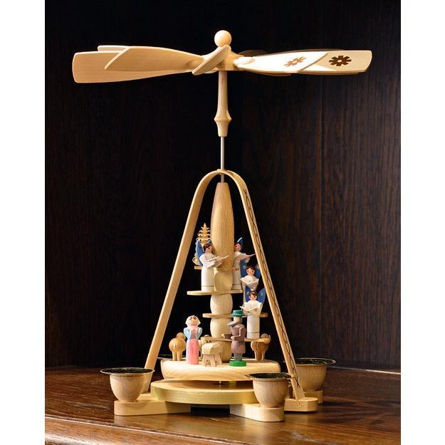 ドイツ木工芸品 ウィンドミル キリストのご降誕 天使の合唱|motomachi-takenaka