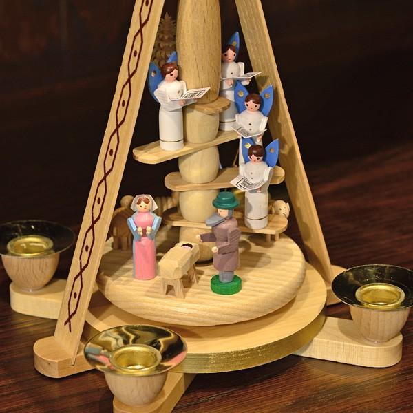 ドイツ木工芸品 ウィンドミル キリストのご降誕 天使の合唱|motomachi-takenaka|04
