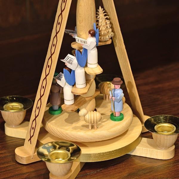 ドイツ木工芸品 ウィンドミル キリストのご降誕 天使の合唱|motomachi-takenaka|05