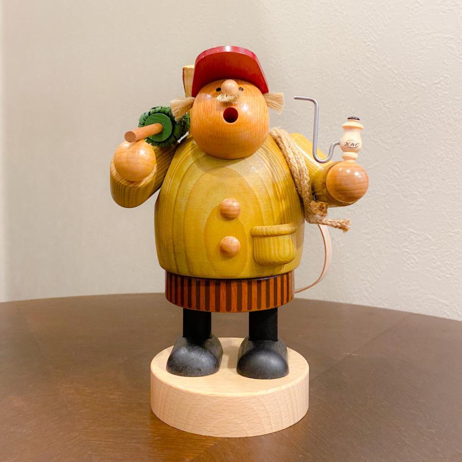 ドイツ木工芸品 煙出し人形 きこり 木こり motomachi-takenaka