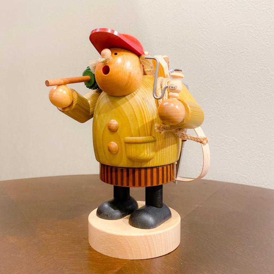 ドイツ木工芸品 煙出し人形 きこり 木こり motomachi-takenaka 02