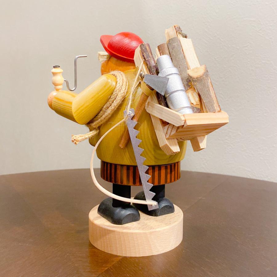 ドイツ木工芸品 煙出し人形 きこり 木こり motomachi-takenaka 04