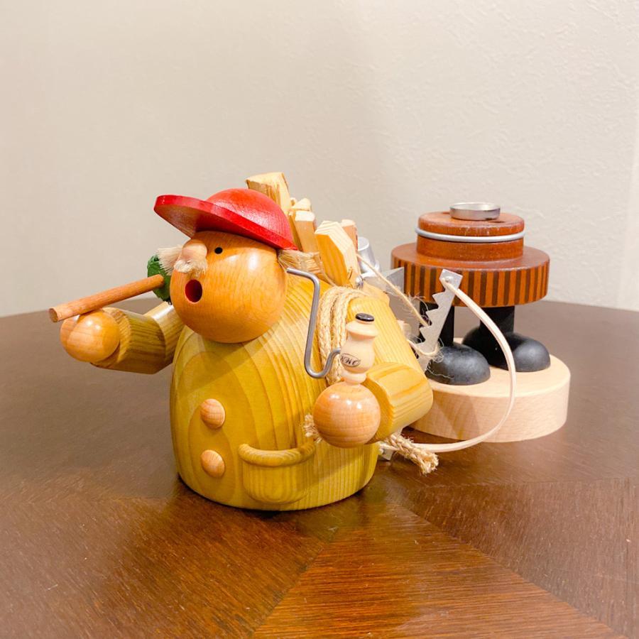 ドイツ木工芸品 煙出し人形 きこり 木こり motomachi-takenaka 06