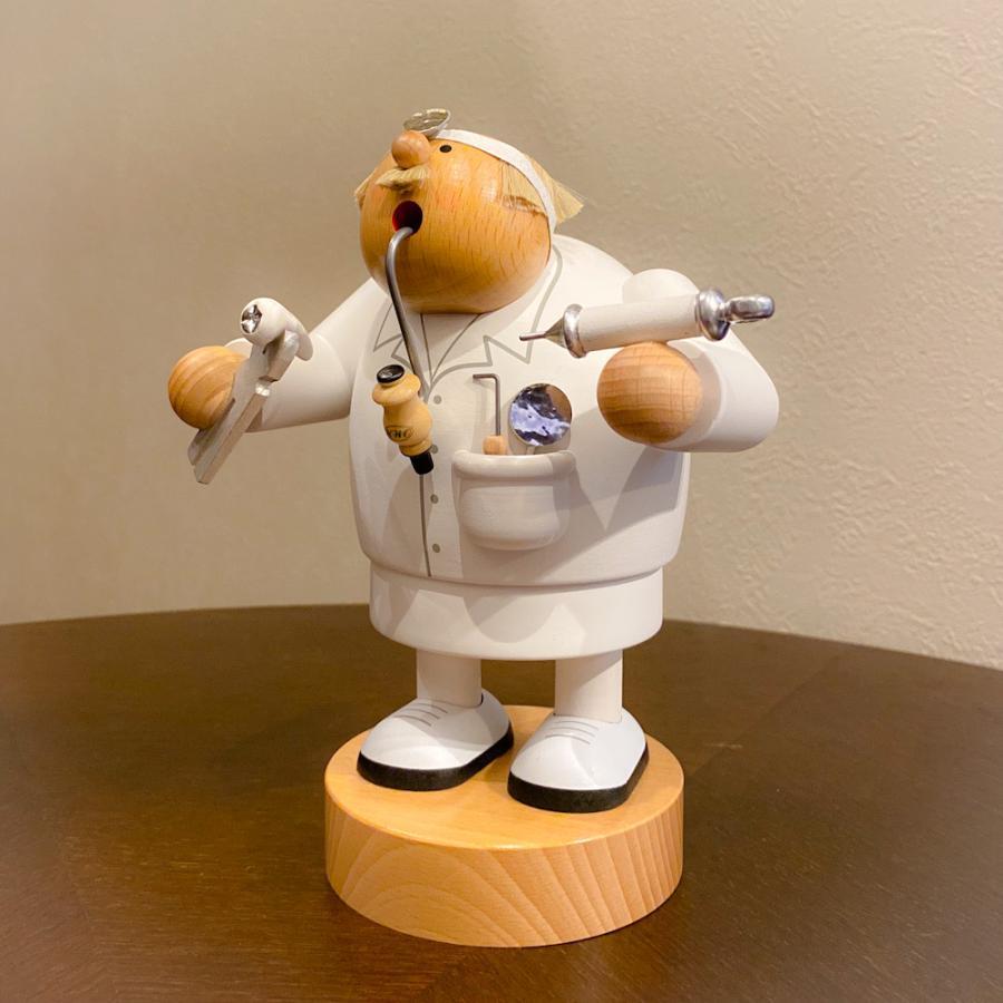 ドイツ木工芸品 煙出し人形 歯科医 歯医者|motomachi-takenaka