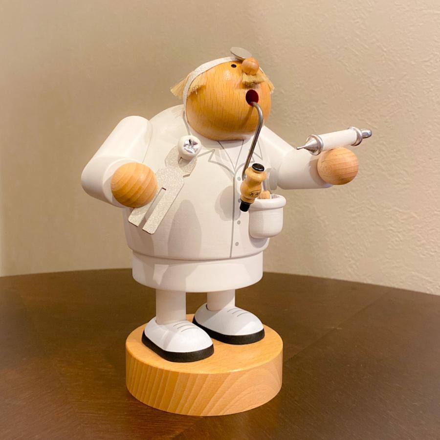 ドイツ木工芸品 煙出し人形 歯科医 歯医者|motomachi-takenaka|03