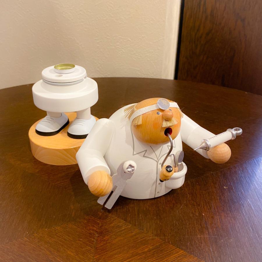 ドイツ木工芸品 煙出し人形 歯科医 歯医者|motomachi-takenaka|05