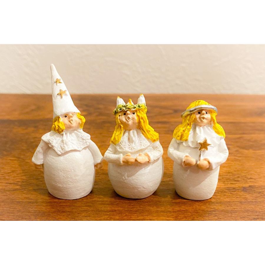 スウェーデン 置物 ルチアの子供たち Lucia Children 3個セット motomachi-takenaka