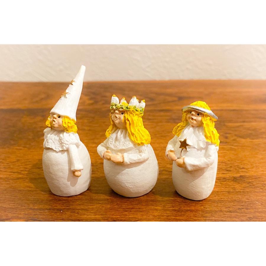スウェーデン 置物 ルチアの子供たち Lucia Children 3個セット motomachi-takenaka 02