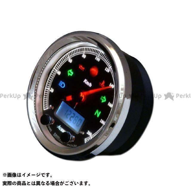 エースウェル 汎用 CA085-152 多機能デジタルメーター 150Km/H ブラックパネル ACE WELL