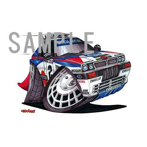 イラスト ランチア・インテグラーレ(WRC)|motorparade|02