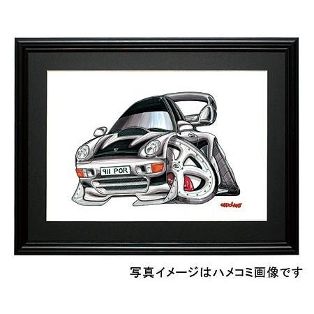 イラスト ポルシェ911ターボ(993・黒)|motorparade