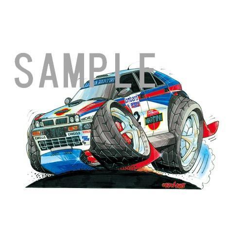 イラスト ランチア・インテグラーレ(WRC) motorparade 02