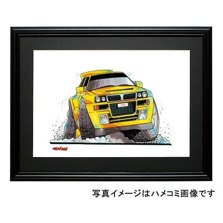 イラスト ランチア・インテグラーレ(黄) motorparade