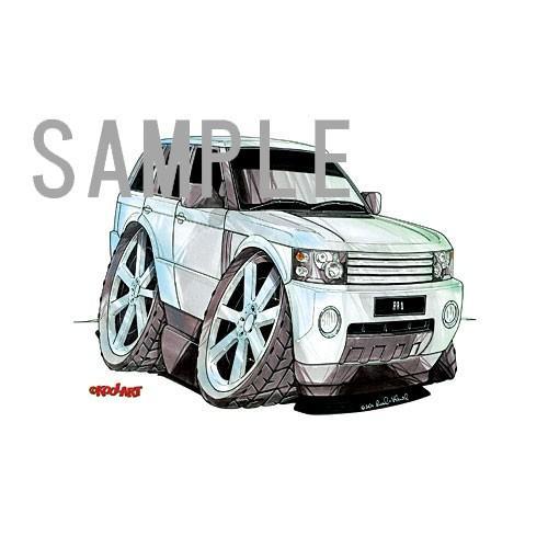 イラスト レンジローバー(白) motorparade 02