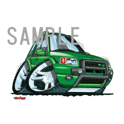 イラスト フリーランダー(緑) motorparade 02