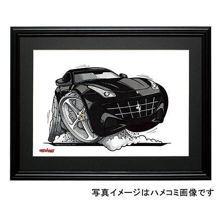 イラスト フェラーリFF(黒)|motorparade