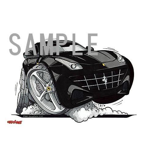 イラスト フェラーリFF(黒)|motorparade|02