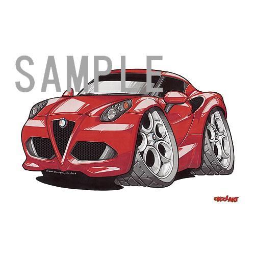 イラスト アルファロメオ・C4(赤)|motorparade|02