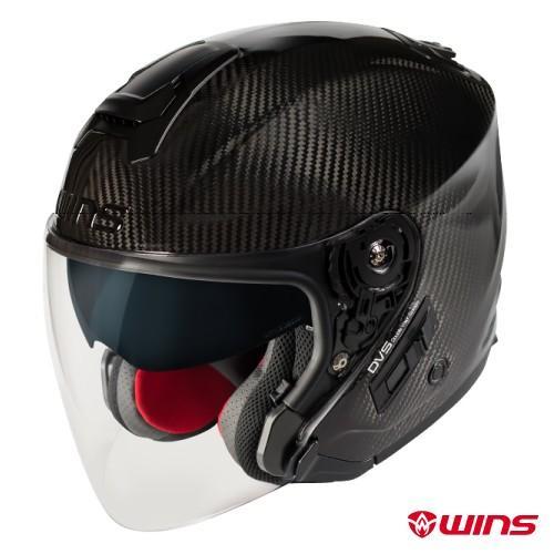 WINS A-FORCE RS JET カーボン ジェットヘルメット インナーバイザー装備