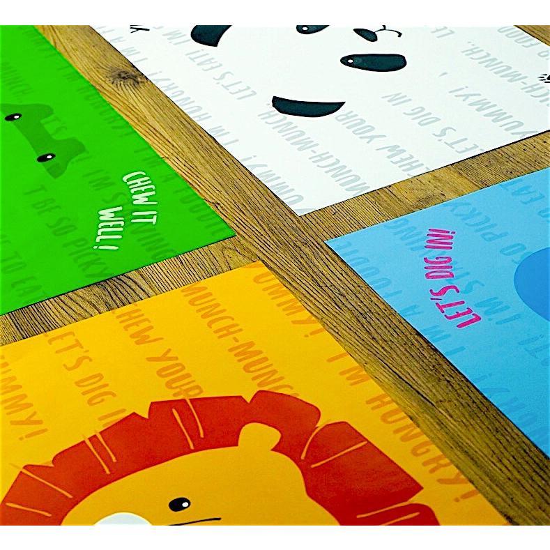 ランチョンマット テーブルマット 大きめ 保育園 幼稚園 紙 使い捨て おしゃれ 子ども パーティ 謝恩会 誕生会 バーベキュー かわいい 動物たち ZOOチョンマット|motto-store|07