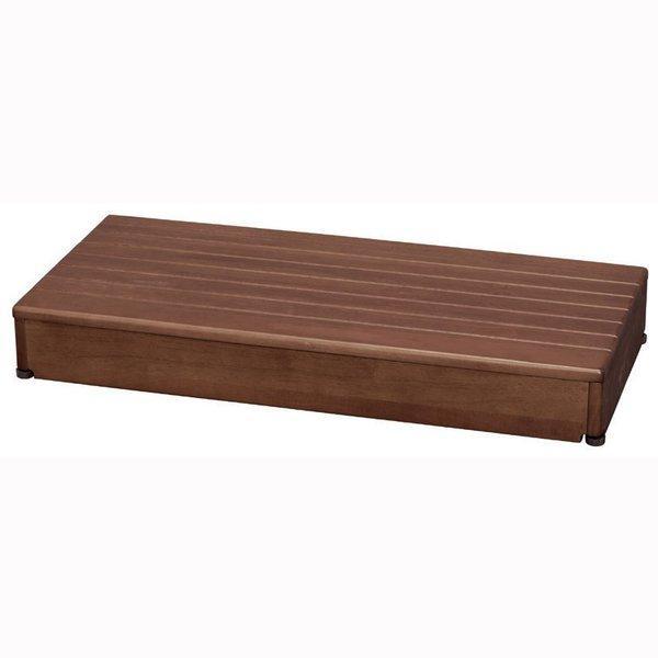 【キャッシュレス払い5%還元】 【キャッシュレス払い5%還元】 安寿 木製玄関台 90W-40-1段 ブラウン 送料無料 住宅改修給付対象