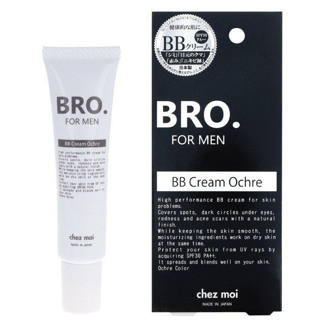BBクリーム メンズ BRO.FOR MEN BB Cream(ナチュラル/オークル)  男性用 ファンデーション コンシーラー シェモア|motu-play|08