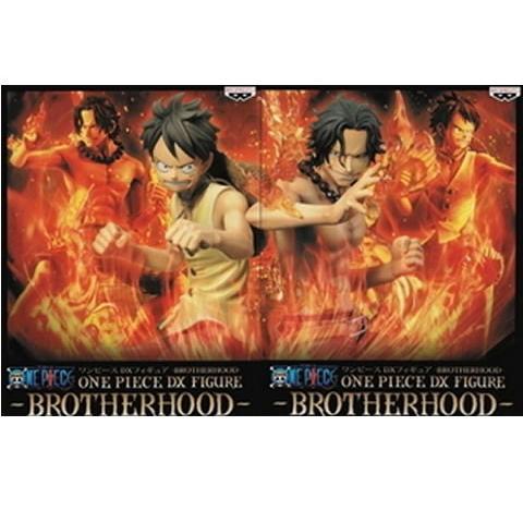 ▲ 送料無料 ワンピース DXF BROTHERHOOD vol.1 ルフィ&エース 2種セット 未開封 デラックス フィギュア ブラザーフッド 代引き不可