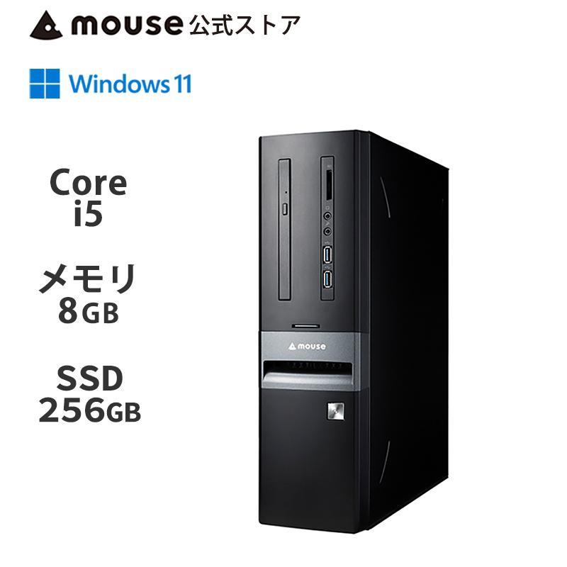 デスクトップパソコン mouse SL5-PPMA Windows 10 Core i5 (第10世代) 8GB メモリ 512GB M.2 SSD 新品 マウスコンピューター [394509]