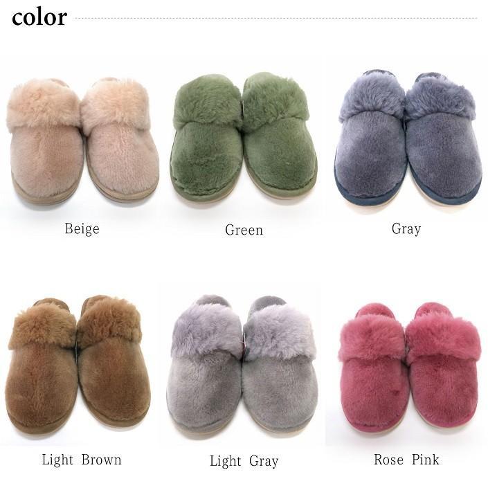 ムートンスリッパ ムートンブーツ 素足で履ける 洗える リアル天然羊毛 スリッパ あったか ルームシューズ デラックスタイプ レディース メンズ ふわふわ E800|mouton888|02