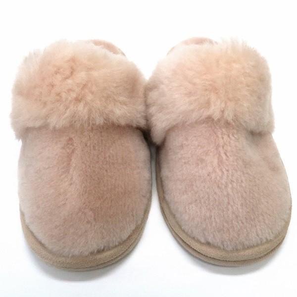 洗える 天然羊毛ムートンスリッパ デラックスタイプ ベージュ Mサイズ あったか ルームシューズ 天然羊毛 レディース メンズ ぽかぽか ふわふわ E800 mouton888 02