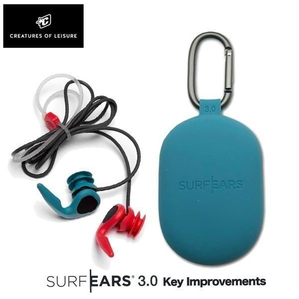 SURFEARS 3.0 サーフイヤー3.0 ORG/TEAL サーフィン専用耳栓 サーファーズイヤー防止 音が聞こえる耳栓 イヤープラグ CREATURES メール便配送 メール便配送