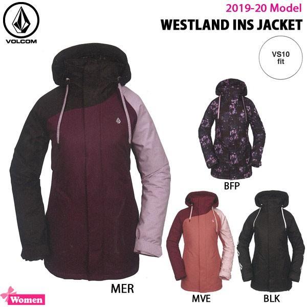 スノーボード ウエア レディス 19-20 VOLCOM ボルコム WESTLAND INS JACKET ウエストランド インサレーションジャケット 温かい スタイリッシュ