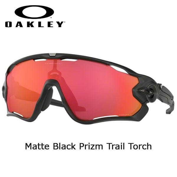 スポーツ サングラス オークリー ジョーブレーカー メタル OAKLEY JAWBREAKER Matte 黒 Prizm Trail Torch あすつく